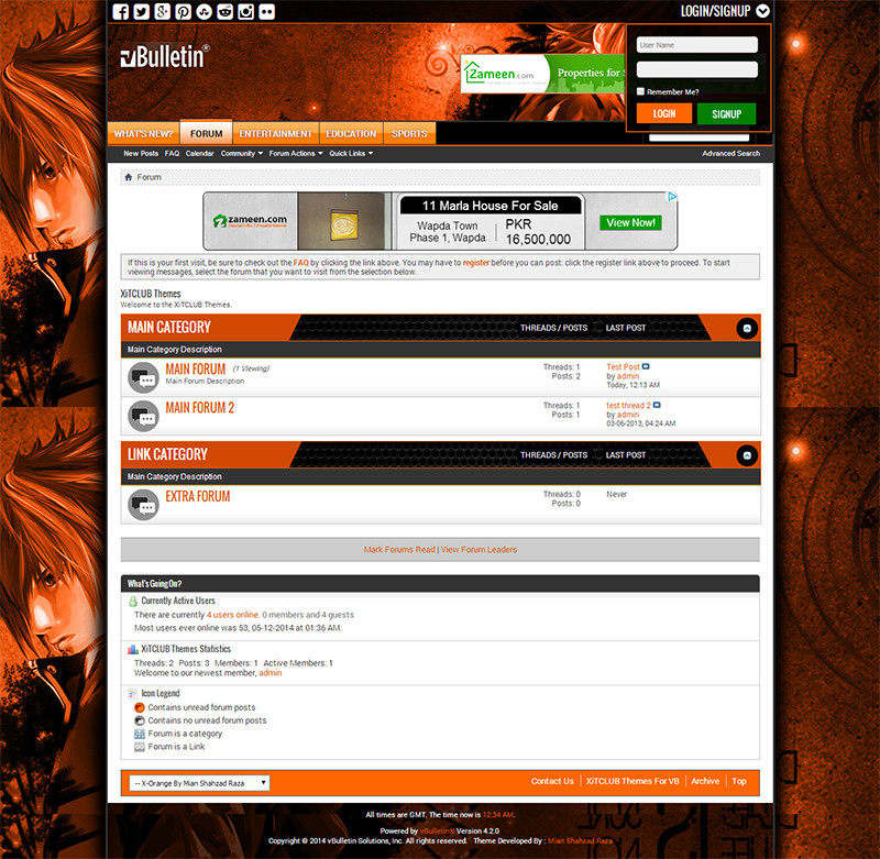 vBuLLetin X-Orange Responsive 4.2.x Özel Tema