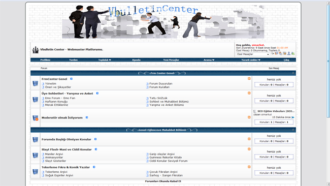vBuLLetin Center Blue 3.8.x Tema